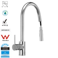 How To Buy Pull Out Kitchen Faucet Dr Brass Construction Ceramic Cartridge Zinc Handle With Two Braided Hoses Stainless Steel Intl