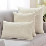 Sale Pure Color Squre Pillow Home Sofa Linen Hlod Pillow With Core Cushions Cover Intl Oem Cheap