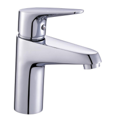 Promo Q3040 2015 Cheap And Fine Brass Basin Faucet Chromed Bathroom Single Handle Water Tap Mixer Silver
