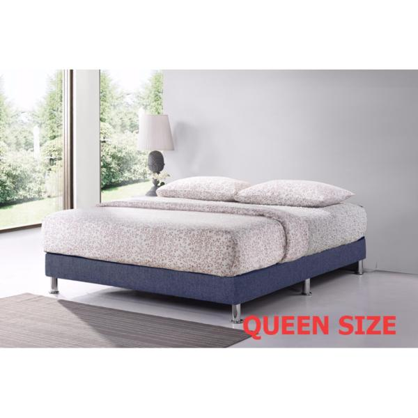 Queen 5ft Divan Base * Dark Blue * Fabric Upholstery * Fast Delivery