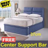 Sale Valentino Storage Bed Frame 14 Inch Storage Height Fabric Upholstery Dark Blue Color Free Delivery Univonna Online