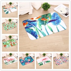 Rainbow Site 3D Printing and Flower Background Indoor/outdoor Floor Mat Doormat (Size 40x60cm)-As the picture Size 40x60cm - intl