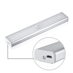 Wholesale 1Pc Warm White Rechargeable Pir Motion Sensor Led Night Light Lamp For Hallway Pathway Staircase Magnetic Strip Wall Lighting