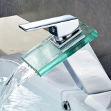 Price Rectangle Glass Spout Waterfall Bathroom Sink Vanity Faucet Brass Chrome Bath Tub Mixer Taps Single Handle Bathroom Basin Faucets Intl Oem Singapore