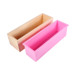 Rectangle Silicone Liner Soap Mould Wooden Box Diy Making Tool Bake Cake Bread Toast Mold Intl Lowest Price