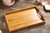 Compare Rectangular With Handle Bamboo Tea Tray Prices