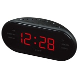 Sale Redcolourful Portable Led Alarm Clock Radio Digital Am Fm Radio Red With Eu Plug Intl