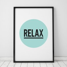 Relax Quote Wall Art Print Poster, Wall Pictures For Home Decoration, Frame Not Include Canvas Art FA47 (Export)