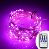 Best Buy Remote Control 66Ft 20M 200 Leds Warm White Led String Starry Lights Christmas Fairy Lights Silver Wire Power Adapter Pink