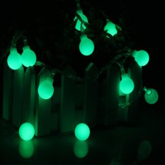 Sale Remote Control Timing Dimmable 6M Battery Operated Christmas Round Ball Decoration Hanging Led String Light Intl Er Chen Online