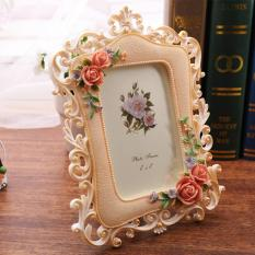 Mimosifolia Resin Photo Frame European Countryside Originality Wedding Frame Gift 6 inches - intl