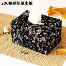 Retor Style Leather Tissue Box Carton Storage Box For Living Room 200 Short Paragraph 17 12 10Cm Intl Promo Code