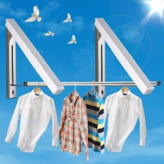 Review Retractable Dryer Creative Folding Clothes Rack Magic Hangers Intl Oem
