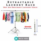 Discount Retractable Laundry Rack Space Saving Easy Storage Clothes Rack Stainless Steel Rack For Outdoor And Indoor Use Singapore
