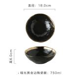 Best Deal Black Home Japanese Style Matte Bowl Ceramic Bowl