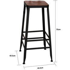 Get Cheap Retro High Chair Stools Bar Stool 75Cm Wood Bar Stool