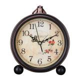 Buy Retro Quartz European Simple Countryside Creative Student Bedside Non Ticking Silent Alarm Table Hanging Clock Intl Online
