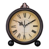 Retro Quartz European Simple Countryside Creative Student Bedside Non Ticking Silent Alarm Table Hanging Clock Intl Lower Price