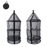 Buy Pawaca Reusable Drying Hanging Rack Net 4 Layer Outdoor Round Folding Camping Dry Net Picnic Tableware Fruit And Vegetable Hanging Storage Mesh Basket On China