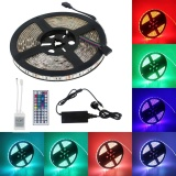 Rgb Led Strip Lights Kit 5M Waterproof Flexible 300Leds Smd 5050 Dream Color Led Tape Light With 44Key Ir Controller 12V 5A Power Supply For Christmas Halloween Tv Backlight Home Garden Decoration Energy Class A Intl Deal