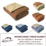 Rinco Bonington Microflannel Blanket Throw Light Blue Dark Blue Best Buy