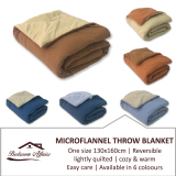 Compare Prices For Rinco Bonington Microflannel Blanket Throw Light Blue Linen