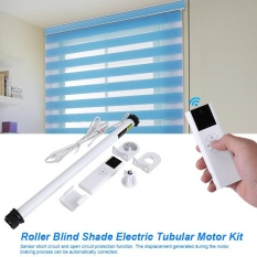 epayst Roller Blind Shade Electric Tubular Motor Kit with Remote Transmitter Control Brackets US Plug - intl