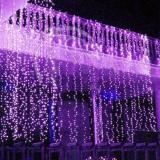 Sale Romantic 1Mx2M 220V Purple 104 Led Christmas Tree Wall Door Decor Light Curtain Intl Oem Branded