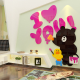 Sales Price Warm And Romantic Acrylic 3D Wall Sticker