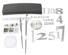 rooroom 3D Mirror Surface DIY Big Digital Modern Creative Home Decor Round Wall Clock,Silver - intl