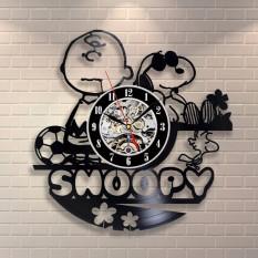 Rorychen Snoopy Vinyl Record Wall Clock Creative Retro Home Decor Clock - intl
