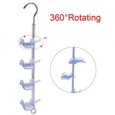 Rotatable Handbag Holder Purse Bag Hanging Rack Storage Organizer Transparent - intl
