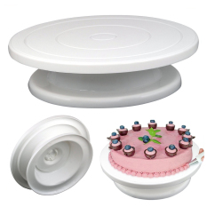 Best Rotating Revolving Cake Decorating Stand Birthday Wedding Cake Turntable Baking Tools