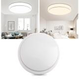 Top Rated Round Shape Modern Acrylic Led Flush Mounted Ceiling Light Livingroom Lamp Pure White 12W Intl