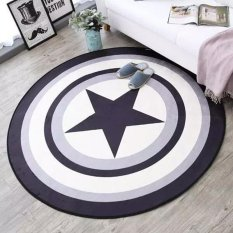 Round Table Floor Mats Non Slip Yoga Mat Washable Carpets For Bedrooms Computer Chair Area Rugs Children Play Cushion 80Cm Intl Deal