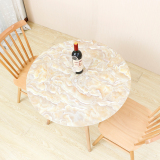 Meiqing Round Soft Glass Marble Tablecloth Oem Cheap On China
