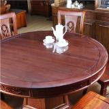 Low Price Round Dining Table Crystal Desktop Glass Transparent Leather Mat
