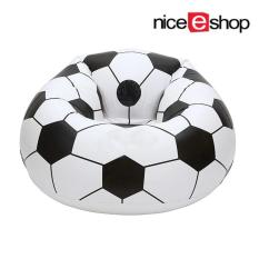 ruixiang Inflatable Football Sofa Cool Design Bean Bag High Quality Eco-friendly Pvc For Adults And Kids,Black+white, Large