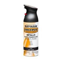 Rust Oleum Universal Spray Flat Metallic Soft Iron Sale