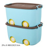 Ruyiyu 2 Pack Ultra Latch Box In Fun Colors Kids Toy Organizer And Storage Bins With Lids Durable Construction 48 X 32 X 25 5Cm Sale