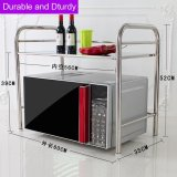 Recent Ruyiyu 2 3 Layer Kitchen Storage Shelf Stainless Steel Microwave Oven Rack Kitchen Tableware Shelves Home Storage Rack With One Utensils Container