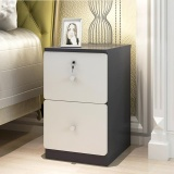 Price Comparison For Ruyiyu 24X40X50Cm Wooden Bedside Table Nightstand Cabinet Bedroom Chest 2 Storage Drawers