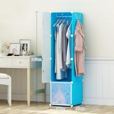 RuYiYu -39 X 37 X 147cm, Multi Use DIY Plastic Organizer, Bookcase, Storage Cabinet, Wardrobe Close,Portable Closet,large space and sturdy construction Closet - intl