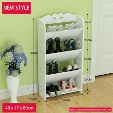 RuYiYu - 40x17x80cm, Amazing Utility Shoes Rack, Plastic-Wood Shoe Storage Organizer Cabinet Tower, Heavy-Duty and EASY TO ASSEMBLE