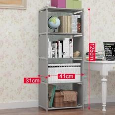 Buy Ruyiyu 41X31X125Cm 4 Tier Diy Adjustable Nonwovens Bookcase Floor Bookshelf With Book Shelves Home Furniture Organizer Storage Cabinet Bookcase Ruyiyu Online