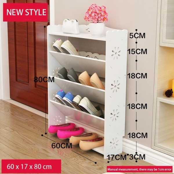 RuYiYu - 60x17x80cm, Amazing Utility Shoes Rack, Plastic-Wood Shoe Storage Organizer Cabinet Tower, Heavy-Duty and EASY TO ASSEMBLE