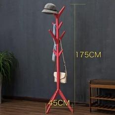 68.9 inch/175cm, Wood Floor Standing Coat/Hat Rack, Solid Wood in Pine Finish, 8-Hook Coat Rack