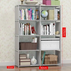 Purchase Ruyiyu 82X31X125Cm 4 Tier 8 Shleves Diy Adjustable Nonwovens Bookcase Floor Bookshelf With Book Shelves Home Furniture Organizer Storage Cabinet Bookcase Online