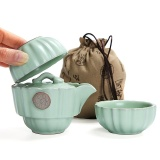 Ruyiyu Outdoors China Ceramic Chinese Porcelain Kung Fu Tea Set With Bag Ru Klin Ceramic Tea Pot Cover Bowl Vehicle Mounted Travel Tea Set Portable Outdoor Travel Tea Tet 3 Pack Online