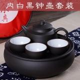 Ruyiyu Outdoors Chinese Kung Fu Tea Set With Tea Tray China Ceramic Chinese Porcelain Kung Fu Tea Set Portable Outdoor Travel Tea Tet Zisha Shopping